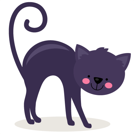 Black Cat clipart scrapbook Cute file SVG scrapbook free