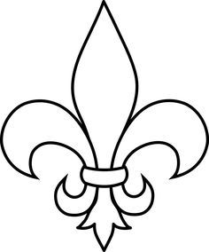 Damask clipart coral Frrench and Orleans Saints Lis