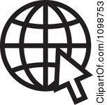 Black clipart internet #10