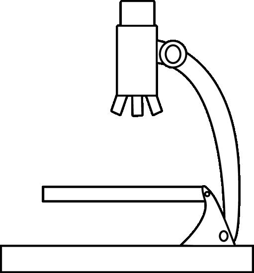 Black clipart microscope  Microscope and Black Clip