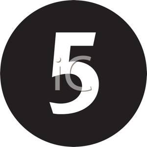 Black clipart number 5 Number Picture Black On 5