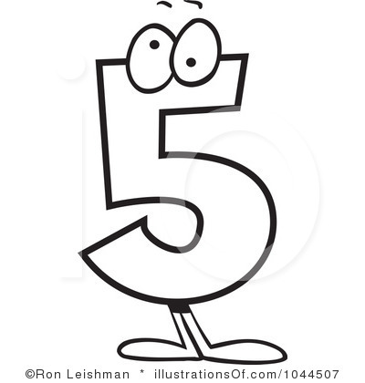 Black clipart number 5 Number Clipart Five Clipart Free