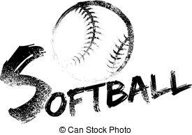 Black clipart softball Clipart Streak Royalty Softball Vector