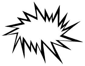 Black clipart starburst Starburst and clipart black white