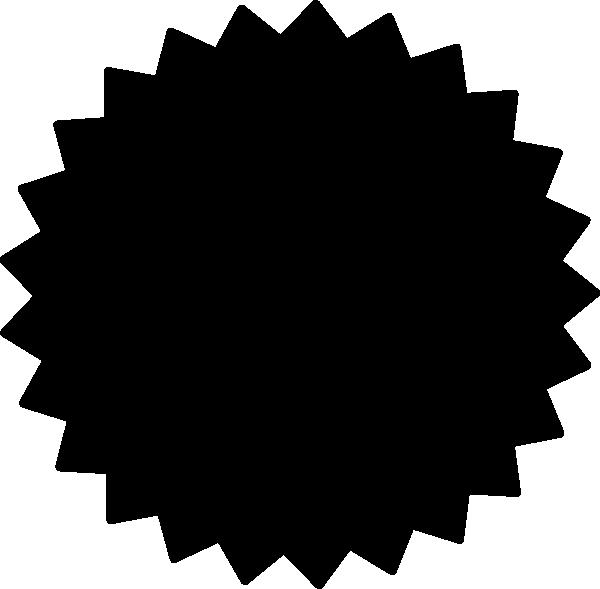 Black clipart starburst Filled art Download Starburst on