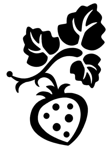 Black clipart strawberry Clipart Free Clip image Clip