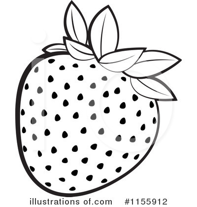 Black clipart strawberry And And Strawberry Clipart Black
