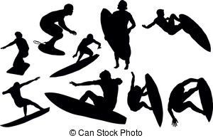 Black clipart surfer Surfing  Surfing  Royalty