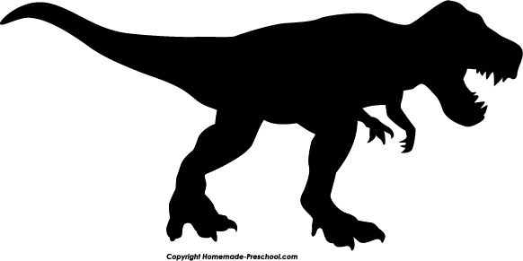 Black clipart t rex Color And White Black Tryannosaurus