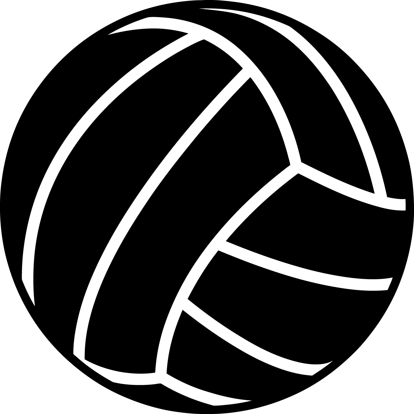 Black clipart volleyball Volleyball Outline Volleyball Outline Volleyball