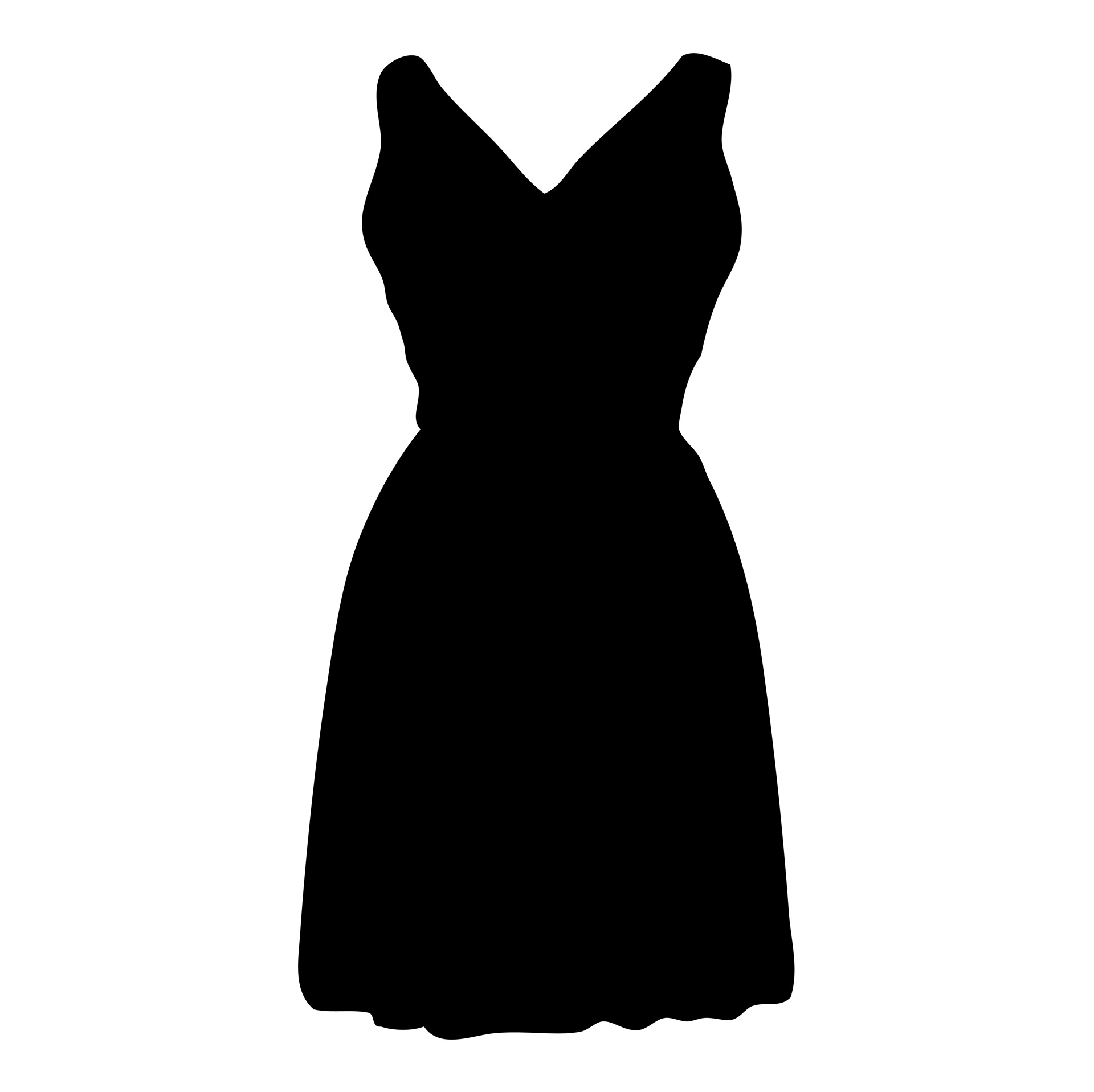 Dress clipart swirl Domain Pictures 1 Black Dress
