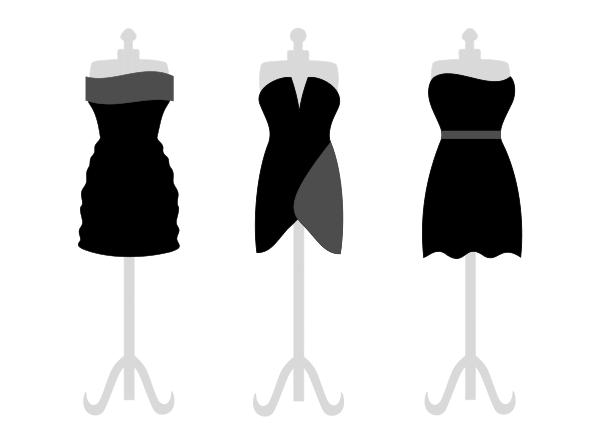 Dress clipart woman in black Black Little Dress Clipart