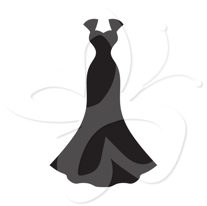 Wedding Dress clipart silhouette Wedding Bows and and Clip