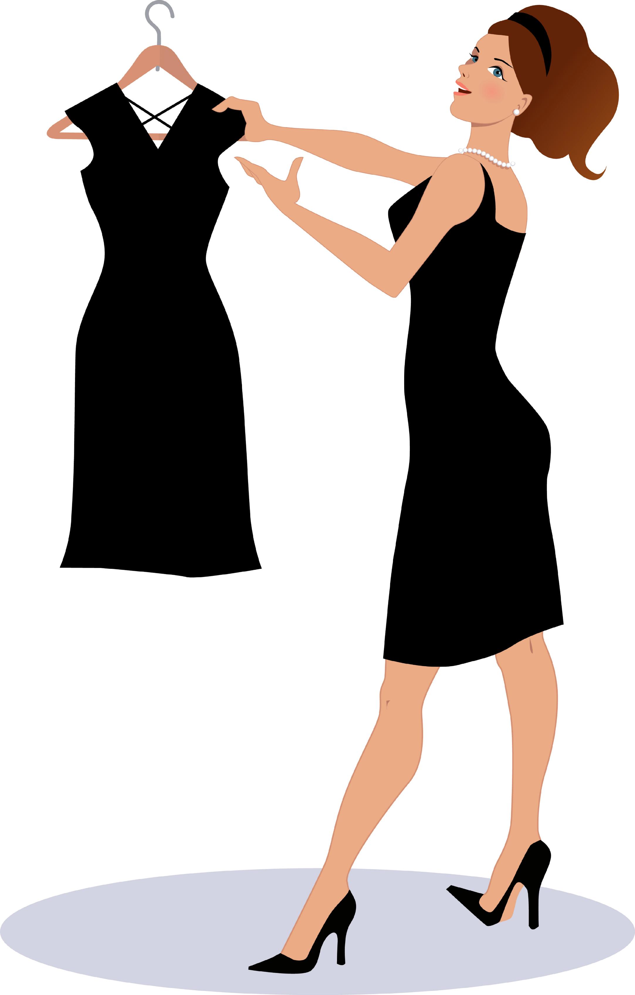 Black Dress clipart stand Dress Little  Cleanse Black