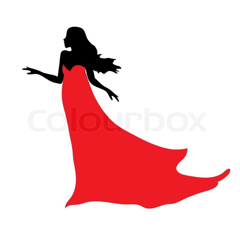 Black Dress clipart stand Silhouette clipart dress dress silhouette
