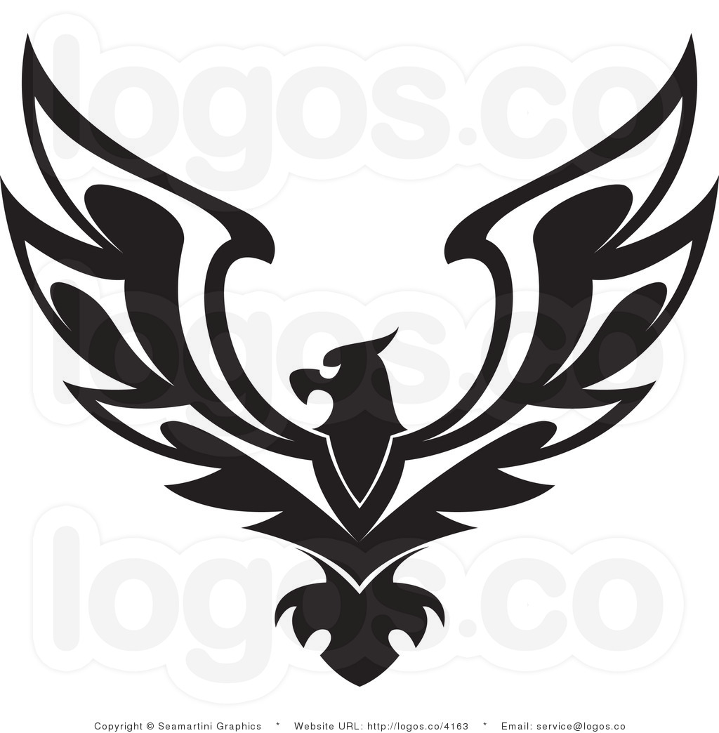 Logo clipart eagle American black royalty free