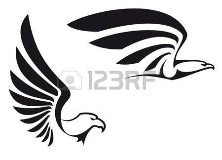 Black Eagle clipart black and white And 012 Eagle white clipart