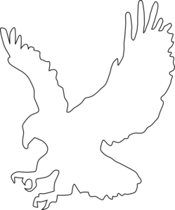 Black Eagle clipart blue And and black white black