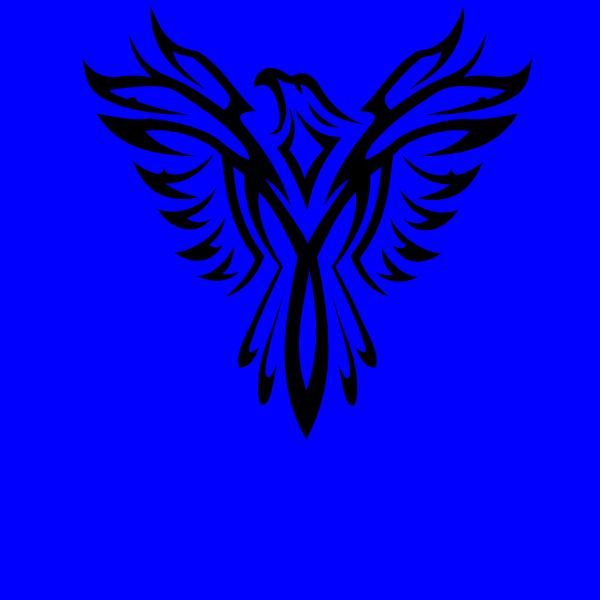 Black Eagle clipart blue Clker Black online as: com