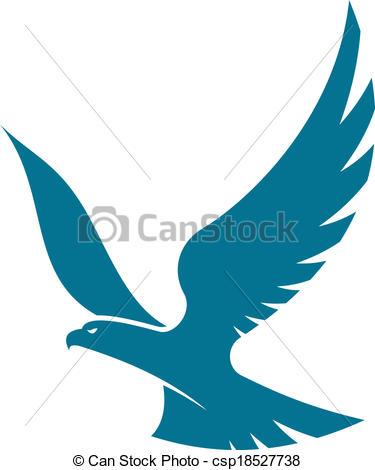 Black Eagle clipart blue Collection And Black outline Eagle