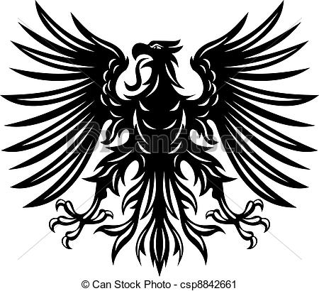 Black Eagle clipart german eagle For Clip tattoo Vector of