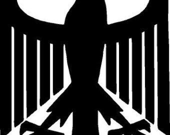 Black Eagle clipart german eagle Eagle German vinyl decal/sticker eagle