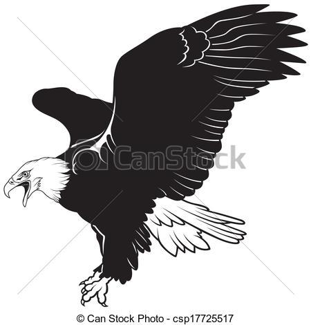 Black Eagle clipart illustrated Vector Illustration of Black csp17725517