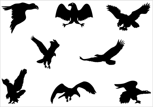 Black Eagle clipart silhouette Silhouette Silhouette Art – 101
