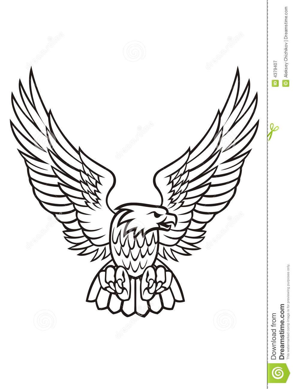 Black Eagle clipart spread eagle White black art with collection