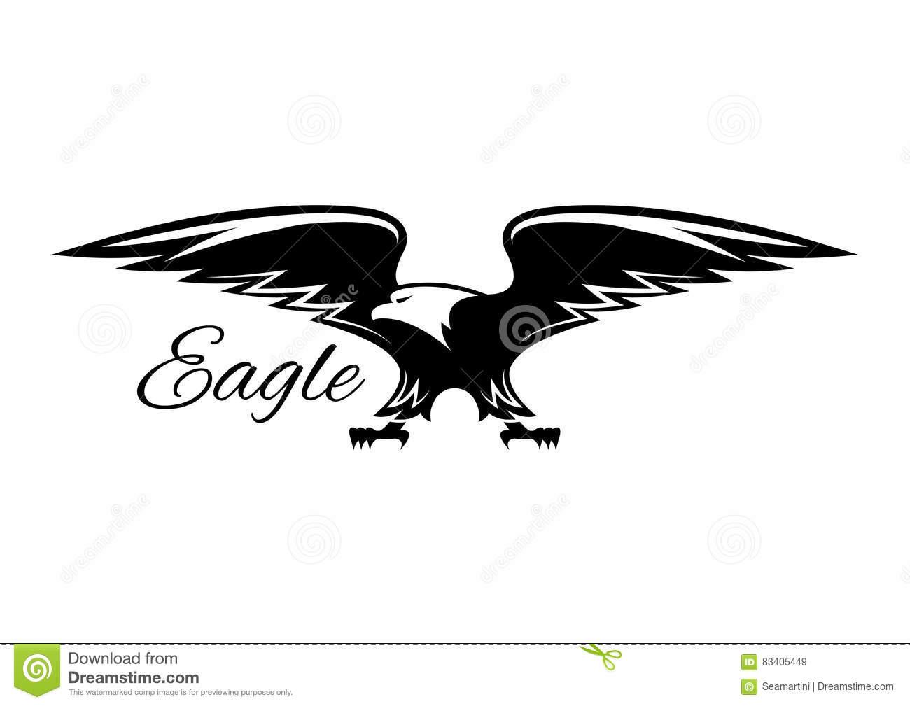Black Eagle clipart vulture Icon white Or heraldic vulture