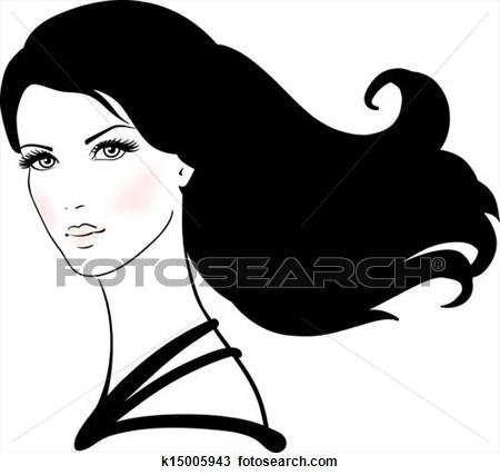 Hair clipart dark hair #15