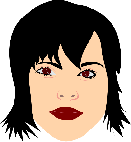 Black Hair clipart Vector at this online art