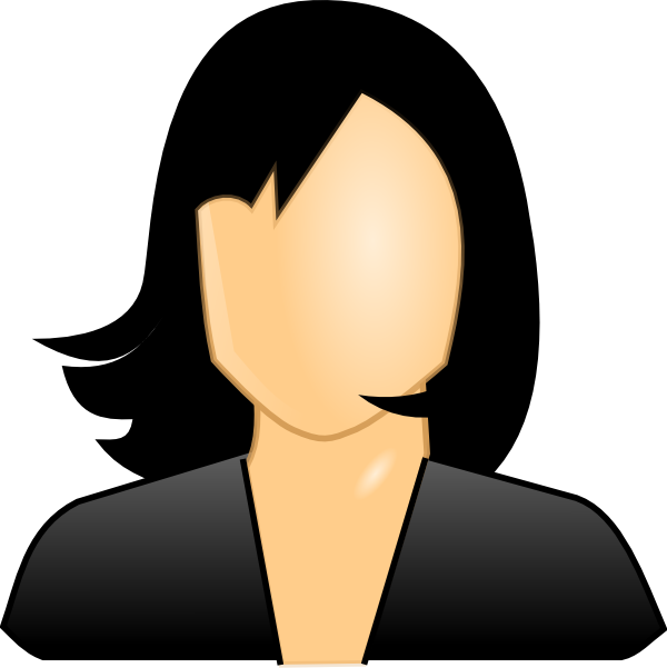 Dark Hair clipart cartoon #2
