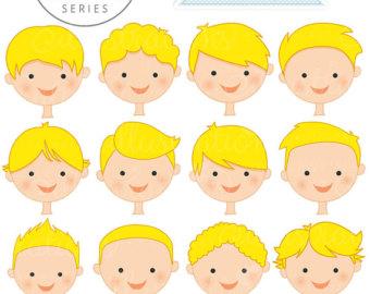 Blonde clipart face A Cute Digital Sets Cute