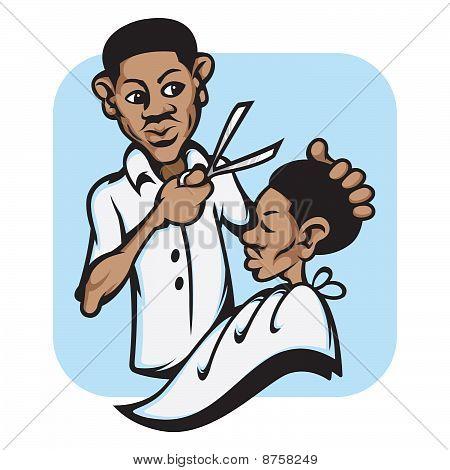 Mohawk clipart barber #1