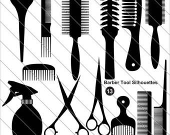 Black Hair clipart suit Barber File SVG DXF salon