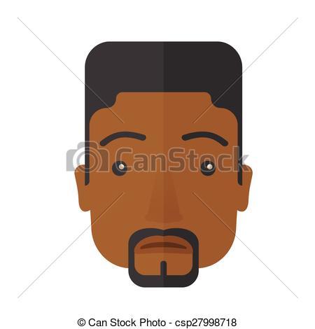 Black Hair clipart man face A black Clip Face of