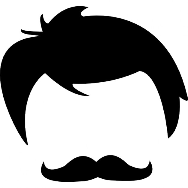 Black Hair clipart mens hair And head Male shapes Icon