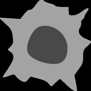 Black Hole clipart bullet hole Clip  vector Bullet Clker