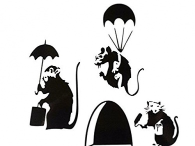 Black Hole clipart rat hole WITH TIN Banksy Skirting
