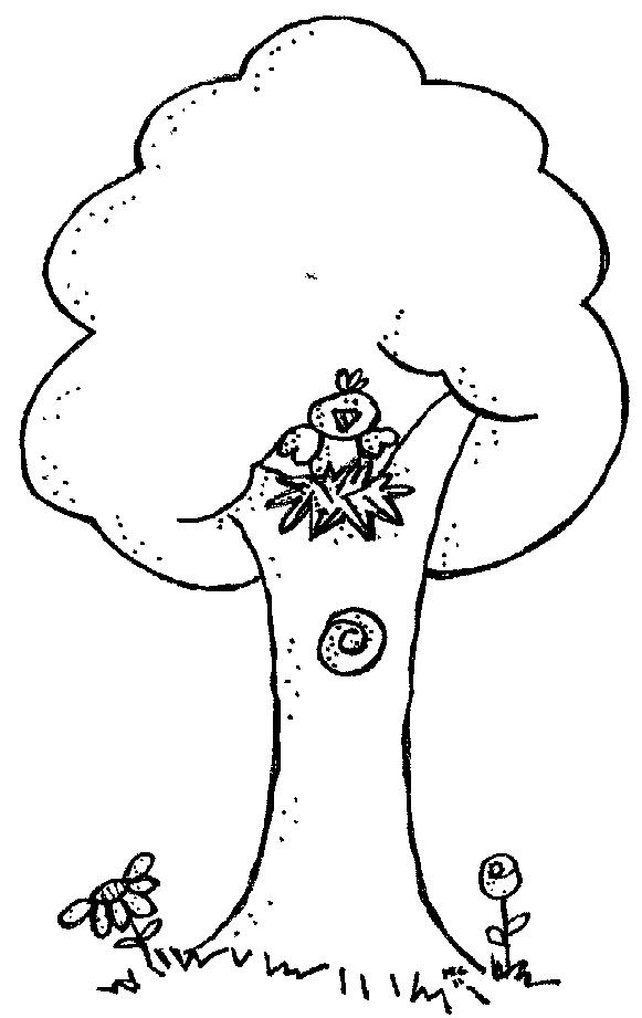 Black & White clipart tree Black with white and And