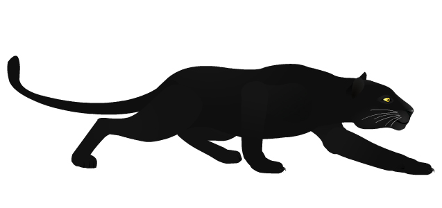 Black Panther clipart black thing By Crawling Black Black panther