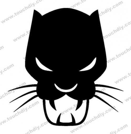 Black Panther clipart logo Logo > Panther Heroes Logo