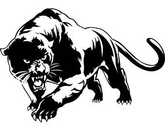 Black Panther clipart polynesian Wild svg cat Logo Cat