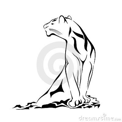 Black Panther clipart polynesian Stock panther Clipart Drawings &