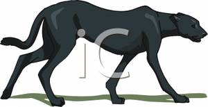 Black Panther clipart vector Walking Clipart Black Clipart Walking