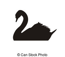 Black Swan clipart Illustrations white a royalty art