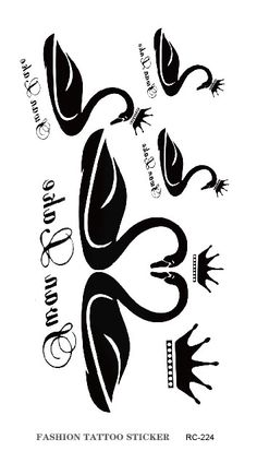 Black Swan clipart calligraphy Google alphabetical temporary sticker Recherche