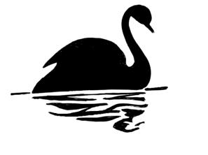 Black Swan clipart illustration Silhouette com Swan online Swan