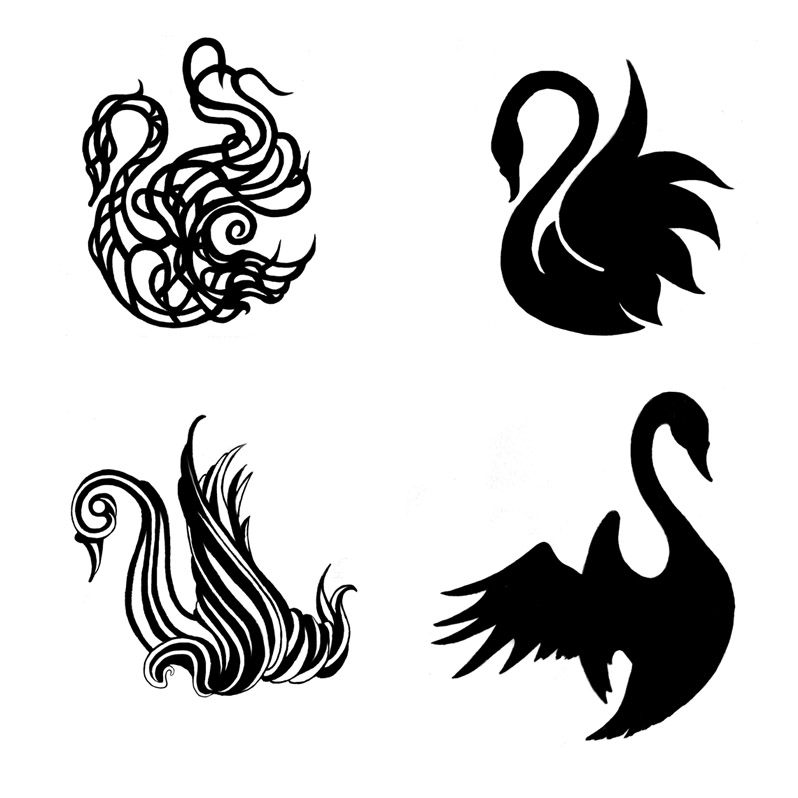 Black Swan clipart simple Swan Tattoo More Tattoo More